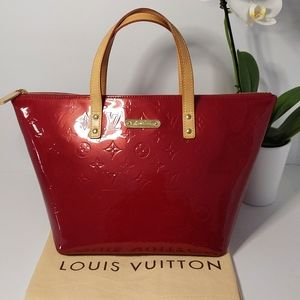 Louis Vuitton Bellevue Toffee Apple Red Leather PM